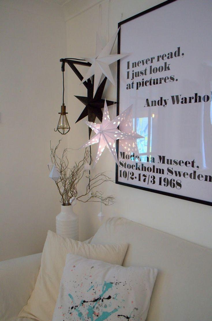 skandinavische weihnachtsdeko 3d sterne selber machen weihnachtsdeko pinterest. Black Bedroom Furniture Sets. Home Design Ideas