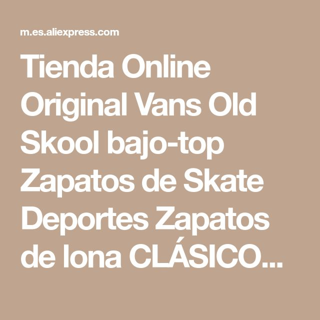 Tienda Online Original Vans Old Skool bajo-top Zapatos de Skate Deportes Zapatos de lona CLÁSICOS Unisex HOMBRES y MUJERES Zapatillas de Deporte el envío libre | Aliexpress móvil