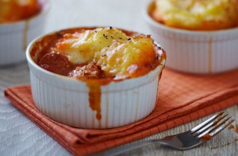 A simple Chicken and chorizo mash pots recipe for you to cook a great meal for…
