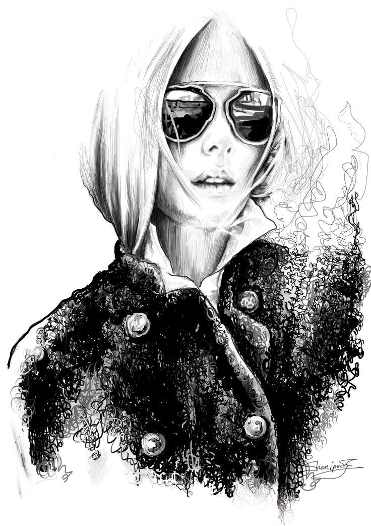 #fashion illustrations #fashion #moda #elina #sheripova #art #iDior