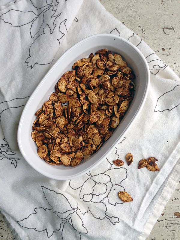 Chili Soy Roasted Pumpkin Seed Recipe // Babble Food
