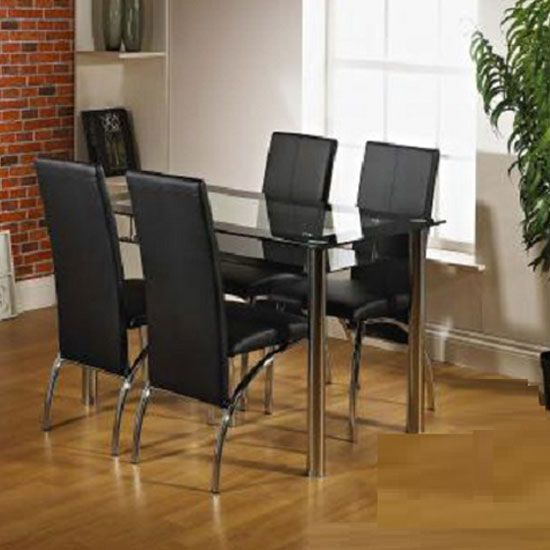 maira dining table set with 4 franco dining chairs