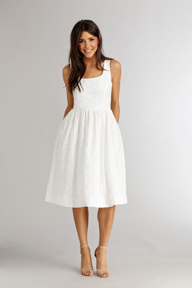White dress bridal shower - Dedicated Pinterest Board Donna Morgan Jan Jun 2015 Casual Midi Dresswhite