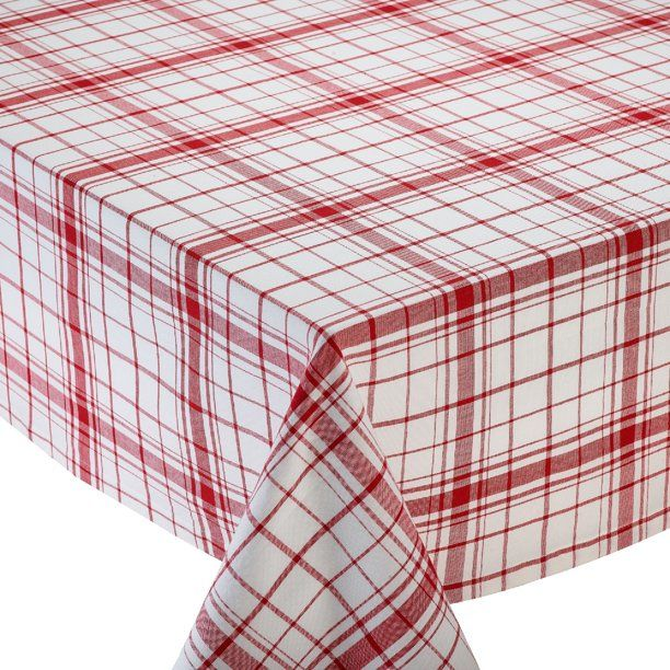 52 Red And White Square Plaid Cotton Tablecloth Walmart Com In 2020 Plaid Tablecloth Design Imports Table Cloth