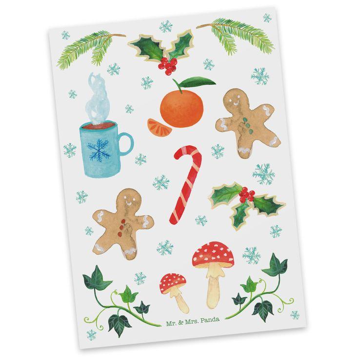 Postkarte Winter aus Karton 300 Gramm  weiß - Das Original von Mr. & Mrs. Panda.  Diese wunderschöne Postkarte aus edlem und hochwertigem 300 Gramm Papier wurde matt glänzend bedruckt und wirkt dadurch sehr edel. Natürlich ist sie auch als Geschenkkarte oder Einladungskarte problemlos zu verwenden. Jede unserer Postkarten wird von uns per Hand entworfen, gefertigt, verpackt und verschickt.    Über unser Motiv Winter  Die Kälte des Winters macht einem gar nichts mehr aus, wenn man die…