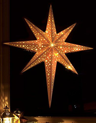 Weihnachtsdeko Led Stern.Led Stern Aus Holz Weihnachtsdeko