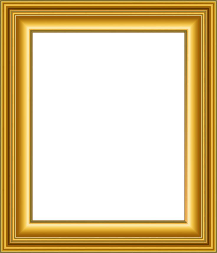 Old Gold Frame Transparent PNG Image