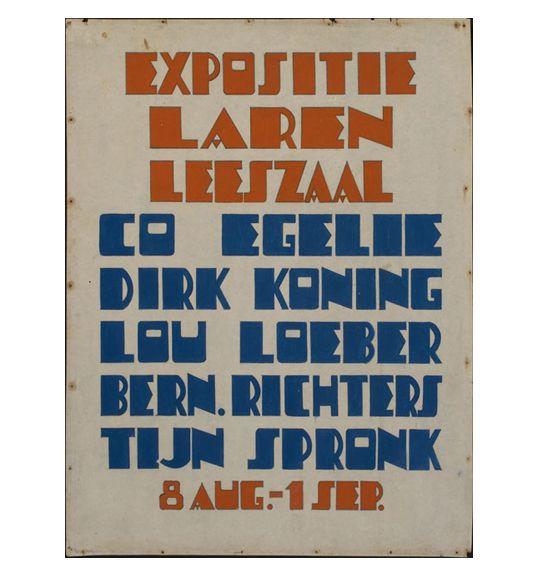 Louise (Lou) Loeber & Dirk Koning Untitled (Expositie Laren Leeszaal) ca. 1925
