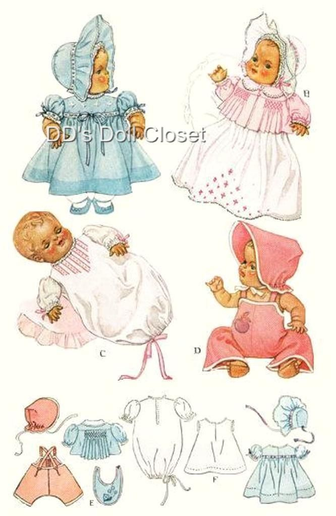 221 Best Doll Clothes Vintage Patterns Images On Pinterest