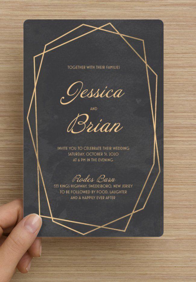 Customized Wedding Invitation From Vista Print Rounded Corner Standard Matte Invitation 5 By 7 Black Marble Custom Wedding Invitations Invitations Noir Bride