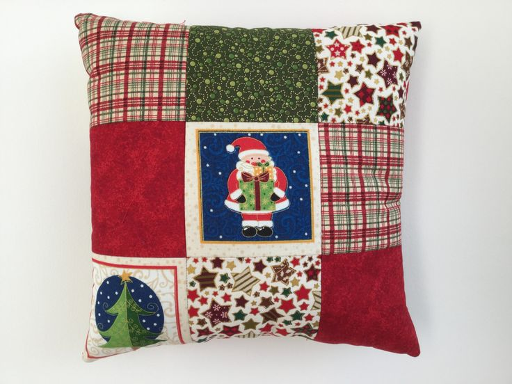 Christmas Mini Patchwork Cushion - Made by Jan - 2016-11