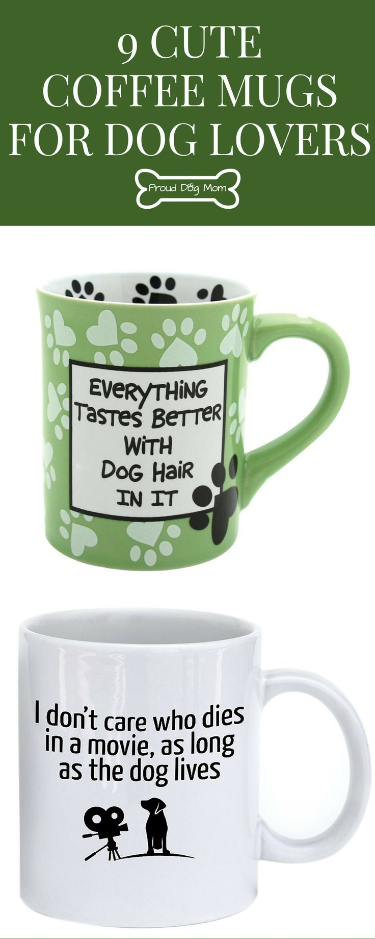 9 Cute Coffee Mugs For Dog Lovers | Dog Lover Gifts |