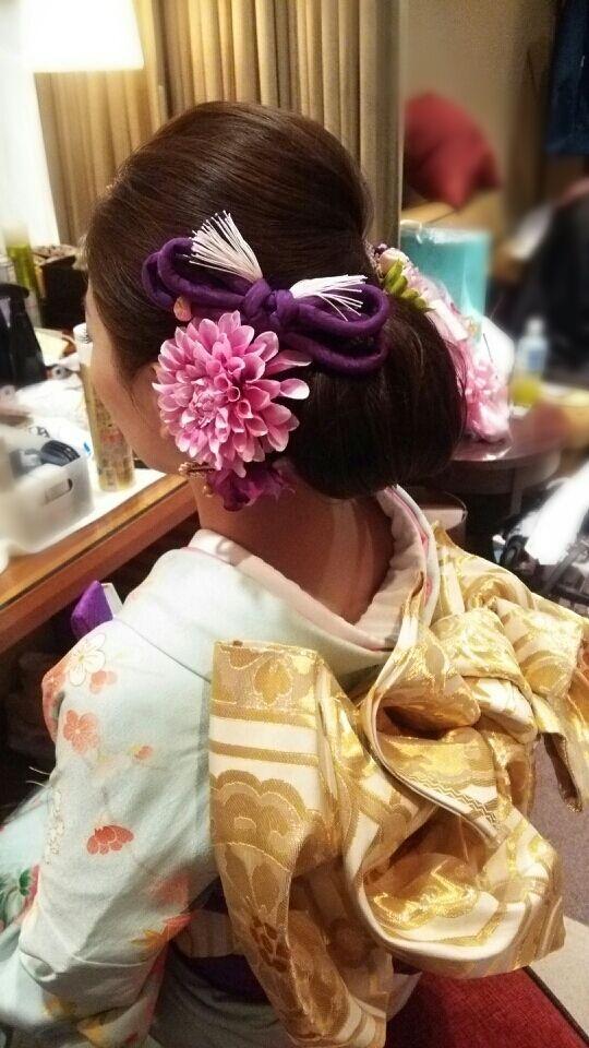 【Chimaさんの蘇州園 】 和装引き振り袖× ブライダルヘアメイク出張 の画像|City Wedding 大阪 梅田、京都、神戸 ブライダルヘアメイク出張 ☆ヘアメイクアーティストモリの美女採集