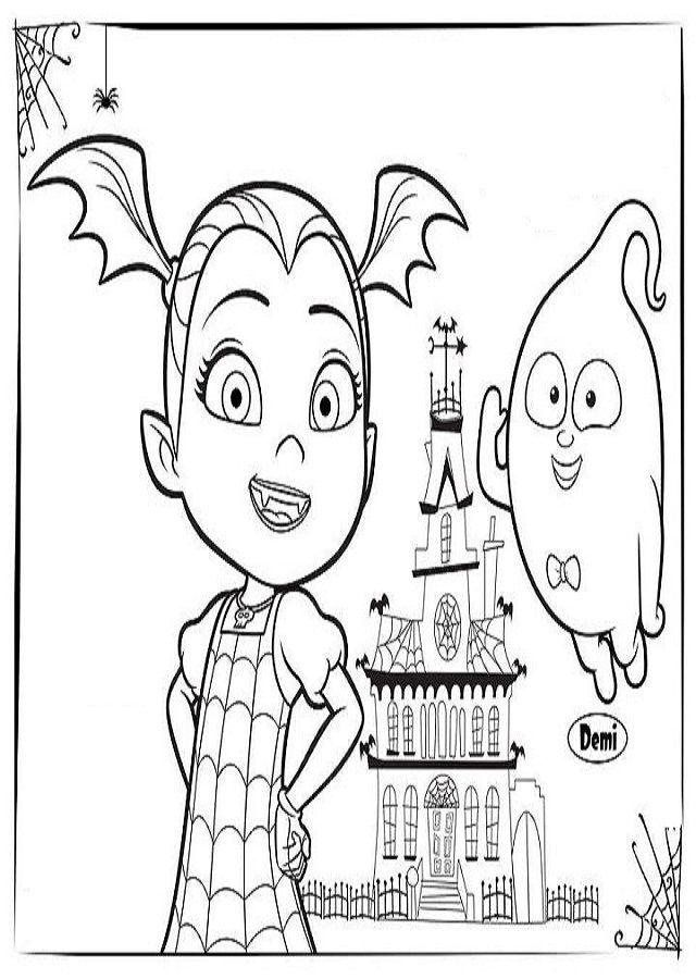 Disney Caricaturas Vampirina Printable Coloring Pages Dibujos Para Colorear Sevensapiens