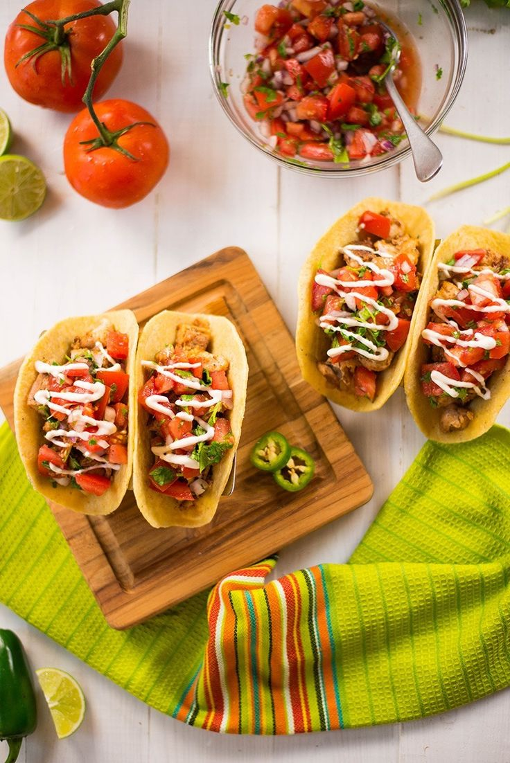 These Chicken Tacos are delicious and easy PLUS I love the fresh pico de gallo, homemade taco seasoning blend, and chipotle lime sauce!