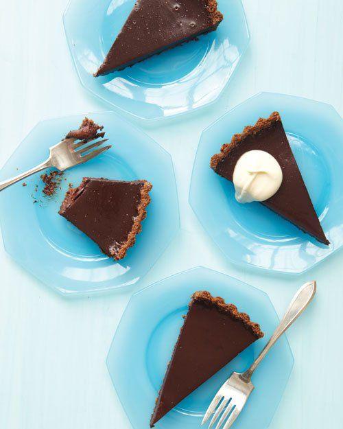 Chocolate Tart with Chocolate Chip Cookie Crust