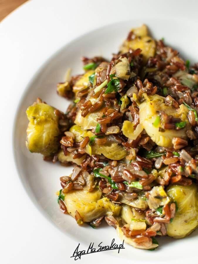 Czerwone risotto z brukselką ⋆ AgaMaSmaka - żyj i jedz zdrowo!