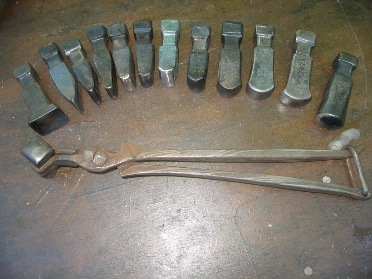 Tongs and fuller tooling forged by dennis dusek