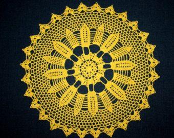 Large Crochet Doily White Doily Lace Round Doily Cotton