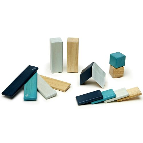 The Tegu Magnetic Wooden Blocks 14 Piece Blues is a wonderful introductory set…