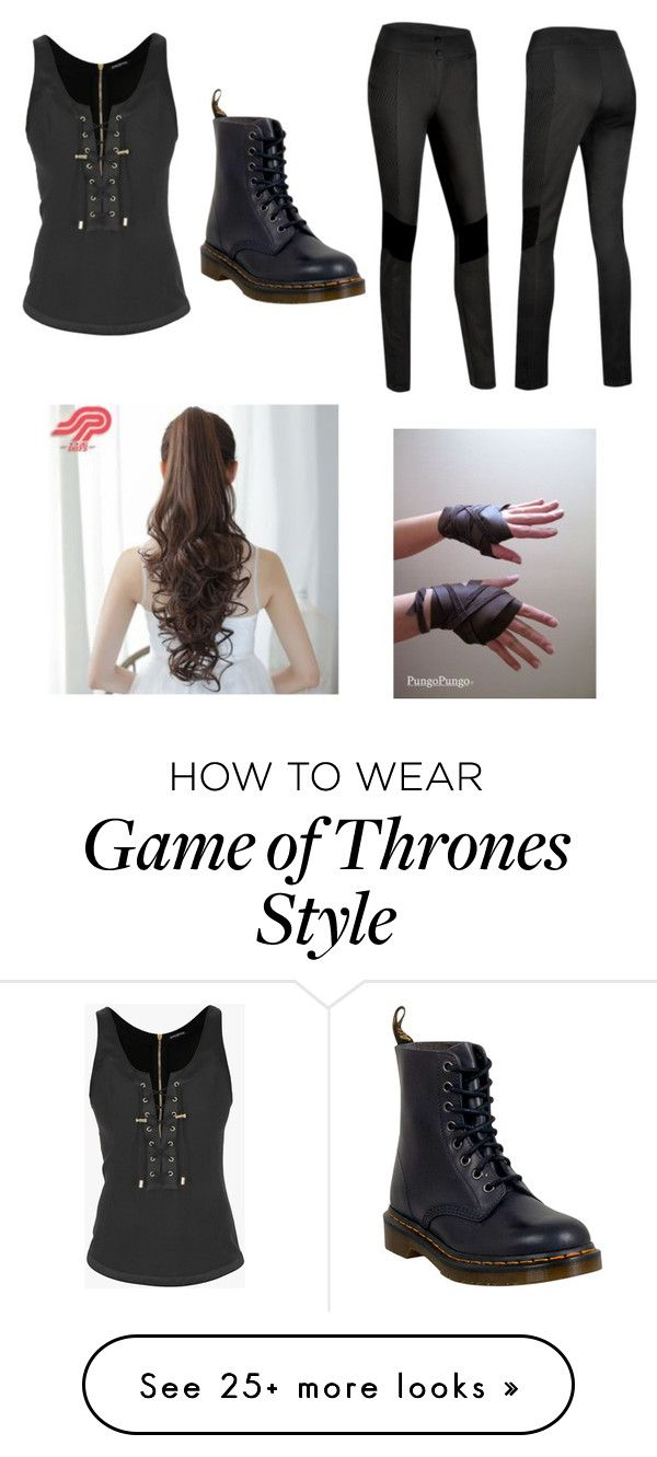 """Mission: Look Awesome"" by pandagirlcdm on Polyvore featuring Balmain, Dr. Martens and Pin Show"