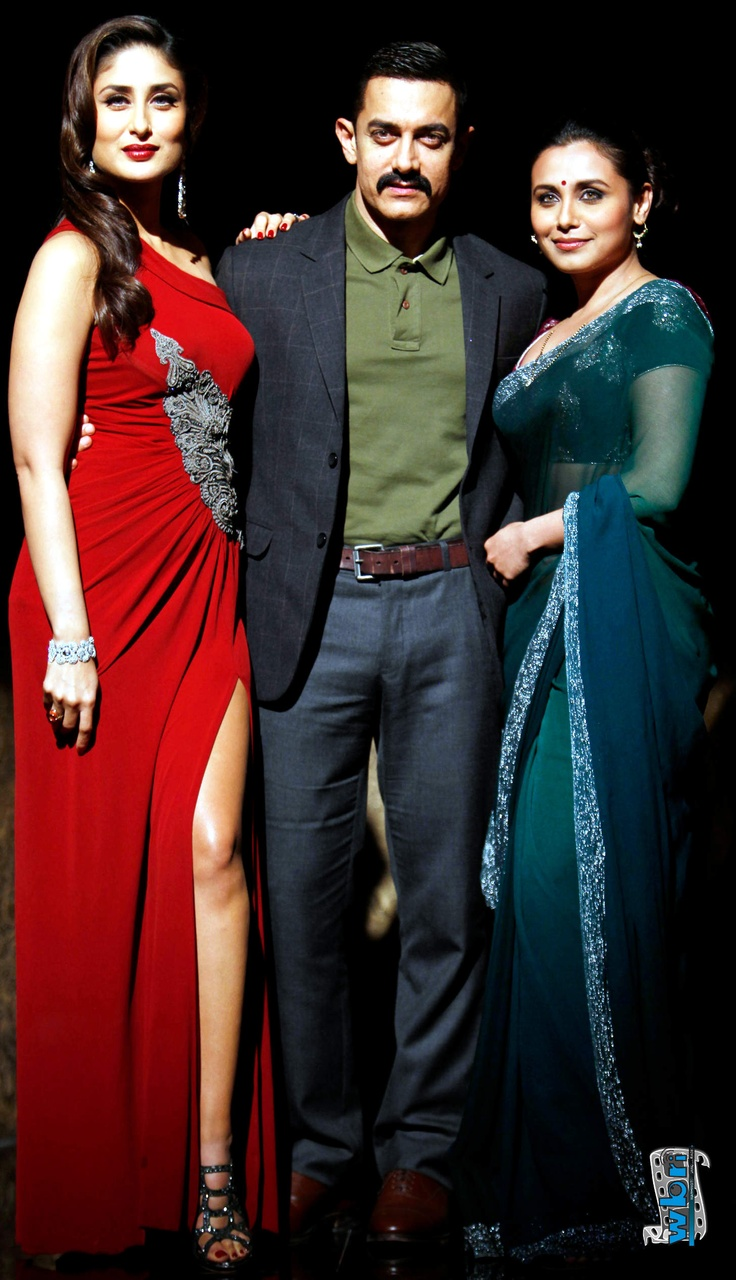 Amir Khan, Kareena Kapoor, Rani Mukherjee in Talaash (2012) Hindi Film Promotion London UK