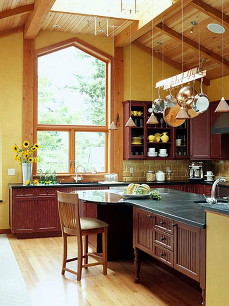 Kitchen Lighting Options Slanted Ceiling With Skylight