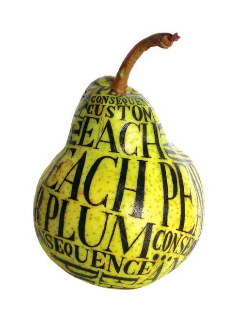 Sarah King ::: Pear typography
