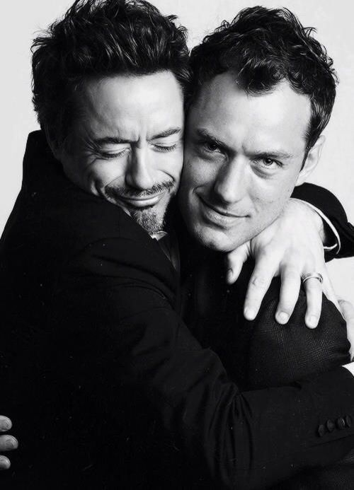 Holmes and Watson...the real mystery is trying to figure out who is cuter...