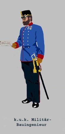 Militär-Bauingenieur im Hauptmannsrang in Dienstadjustierung