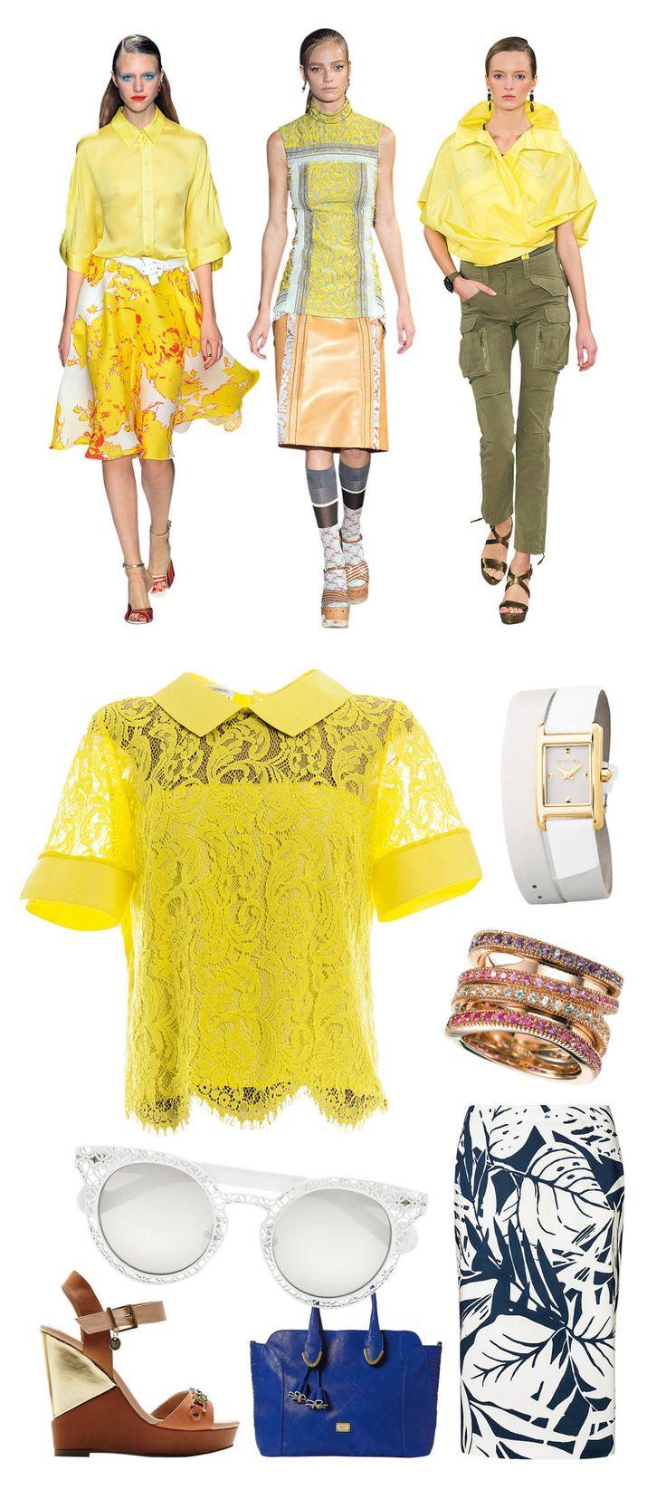 La camicia gialla è la protagonista dei tuoi look estivi