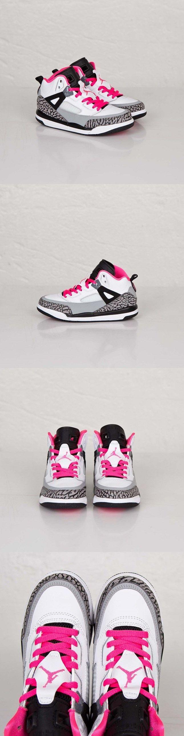 Youth 158973: Brand New Girls Jordan Spizike Gp 535708-109 Black/White-Grey Size 12C BUY IT NOW ONLY: $64.93