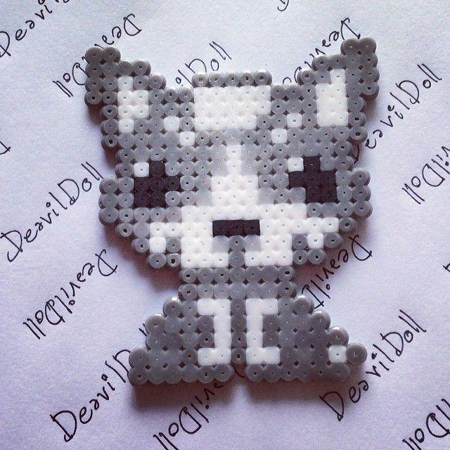 Siberian husky dog hama perler beads by deavildoll