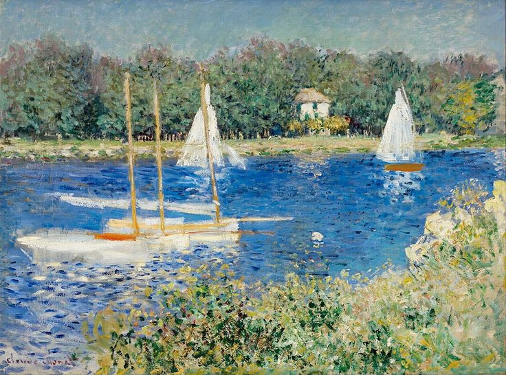 Claude Monet by The Seine at Argenteuil (France)