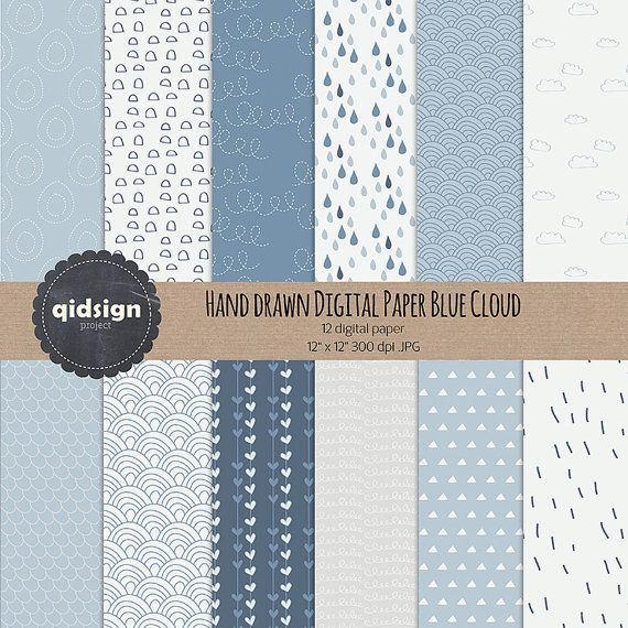 Hey, I found this really awesome Etsy listing at https://www.etsy.com/listing/243424384/hand-drawn-digital-paper-blue-cloud