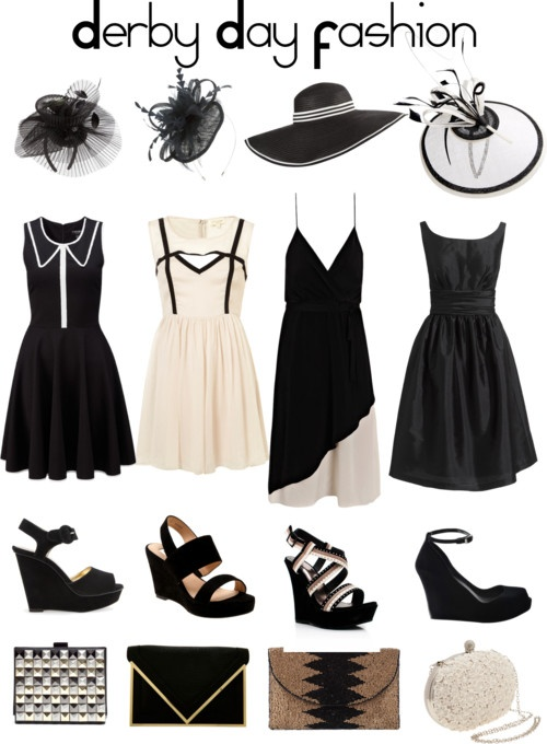 Derby Day Fashion #blackandwhite #race #racing