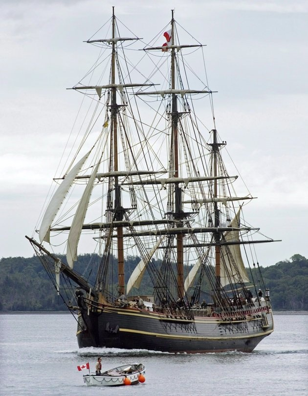 HMS Bounty arrives in Halifax on Thursday July 16, 2009 to participate in Tall Ships Nova Scotia Festival 2009. The crew of the Canadian-built tall ship HMS Bounty, in distress off North Carolina's coast, abandoned the vessel amid surging waves as Hurricane Sandy swirled toward the U.S. East Coast, the Coast Guard said Monday. THE CANADIAN PRESS/Andrew Vaughan