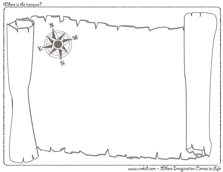 Where is the treasure creative drawing for Pirate coloring pages for preschool