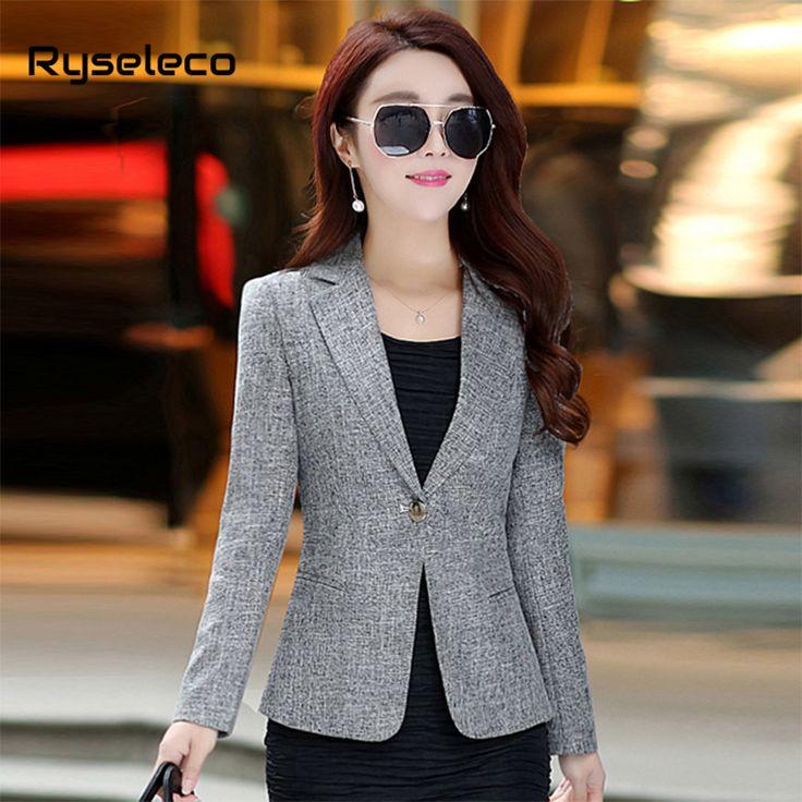 Women's Sweet Color Lapel One Button Office Female Jacket Plus Size Business Casual Blazer Working OL Elegant Brief Outwear Coats -  www.eneryoh.com