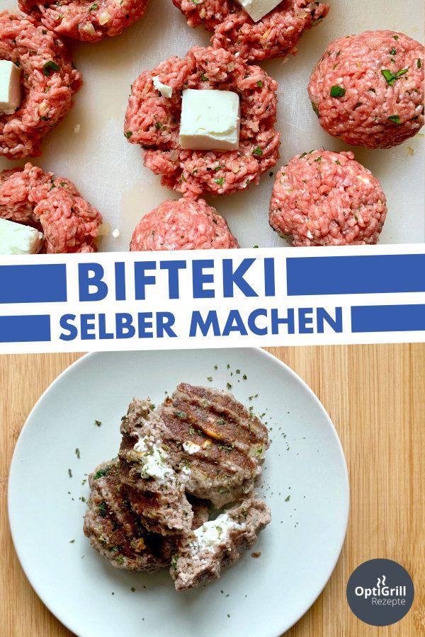 Bifteki selber machen (Griechische Frikadellen)