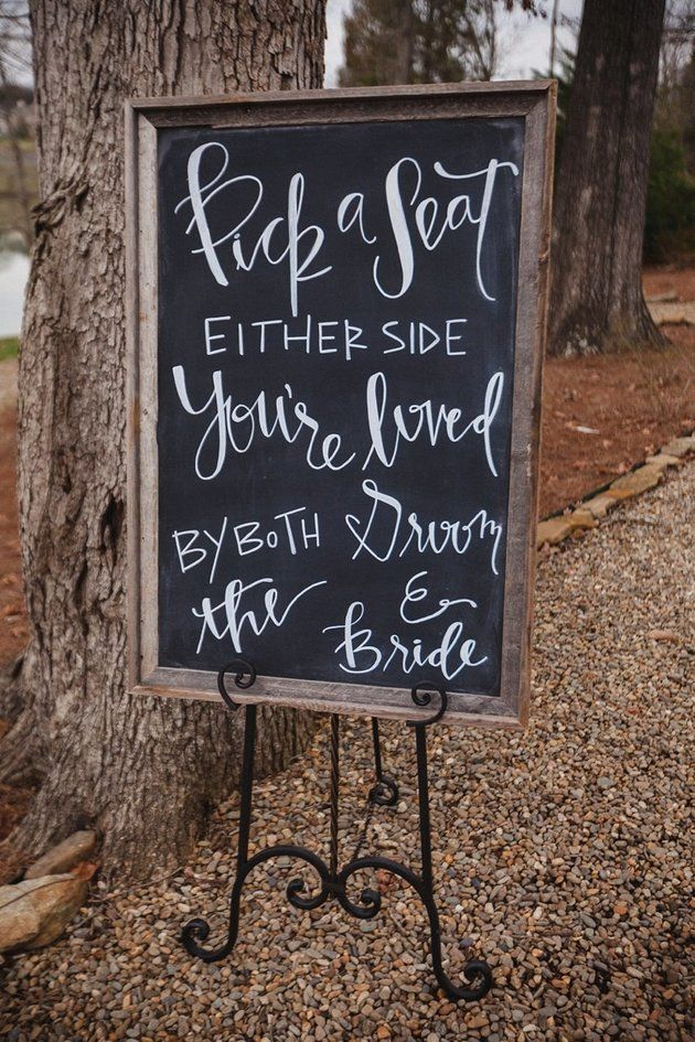 Check out these cute and clever signs for your wedding decor | JoPhoto