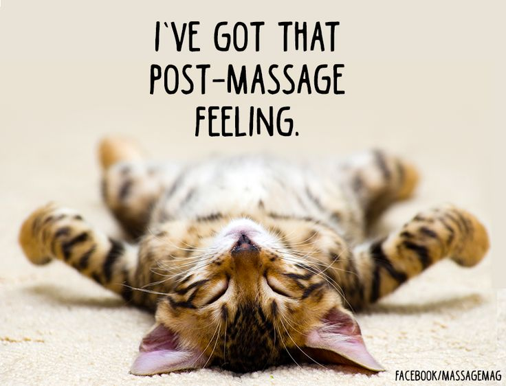 Post-Massage Feeling!  :)