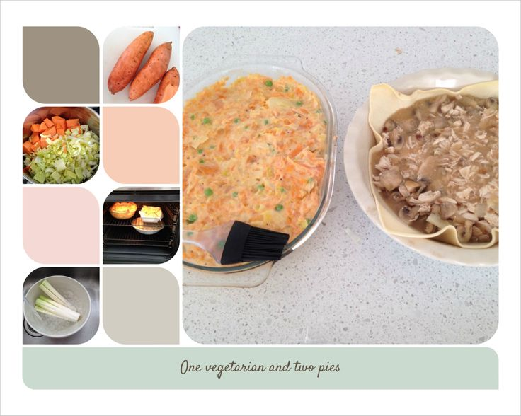 One vegetarian and two pies: recipes on my blog