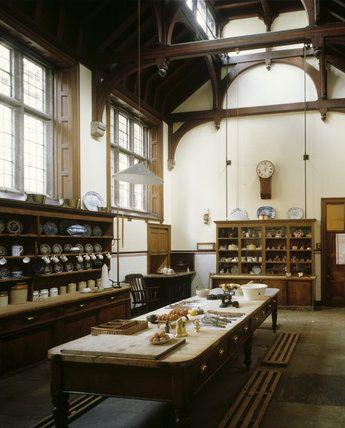 Lanhydrock kitchen, Cornwall England