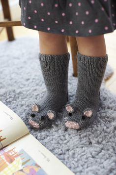 The only thing cuter than exposed baby toes are those dressed as a pair of mice