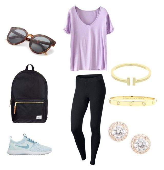 """""""Casual"""" by faulljane on Polyvore featuring NIKE, Herschel Supply Co., Nadri, Cartier and Tiffany & Co."""
