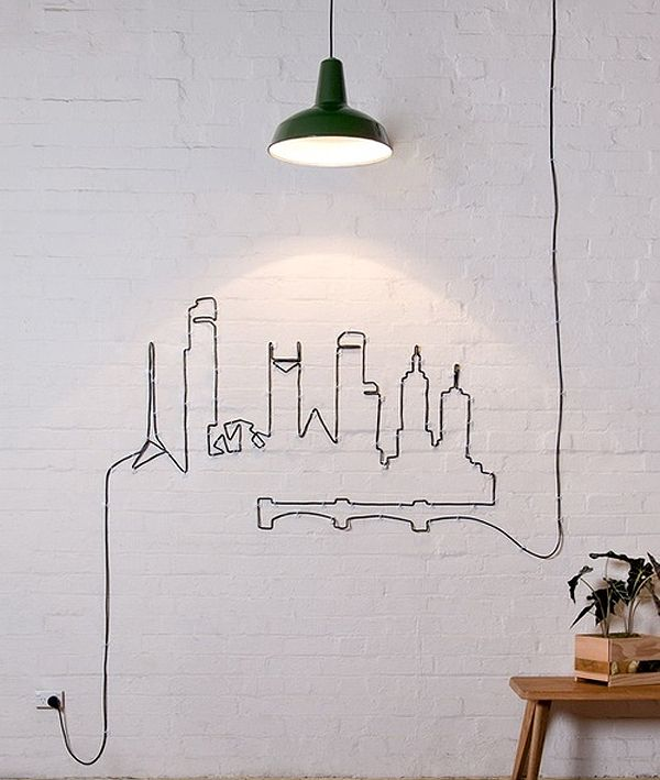 lighting, art, smart idea - where to pin this brilliant thing?!