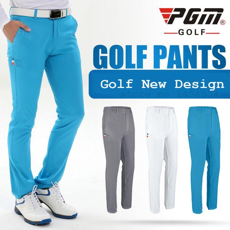 New Design PGM Genuine Golf Men Slim Pant Sport TEE Golf Summer Thin Trousers Ball Pantalon De Golf Apparel Golfpantalon Clothes