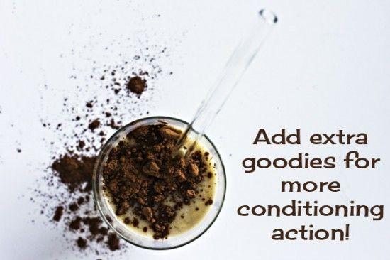 banana milkshake hair mask  1 teaspoon cosmetic grade powdered clay 1 teaspoon olive oil 3 drops lavender essential oil