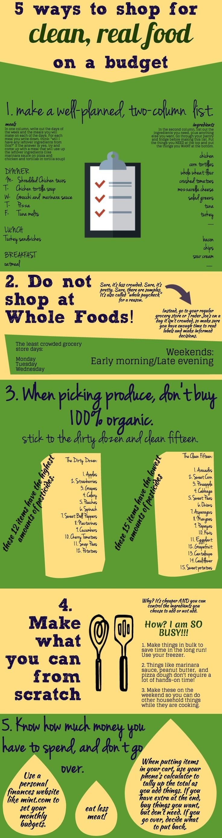 5 ways to shop for clean real food on a budget #cleaneating #realfood #budget